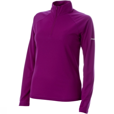 Womens Essential Long Sleeve Zip Neck Base Layer