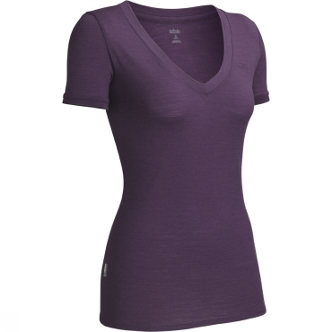 Womens Tech Short Sleeved V-Neck