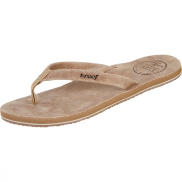 Womens Skinny Leather Flip Flops