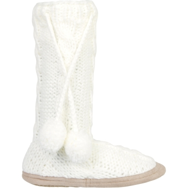 Womens Cable Knit Slipper Sock