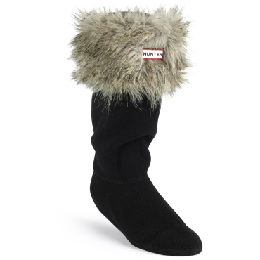 Womens Racoon Cuff Welly Sock