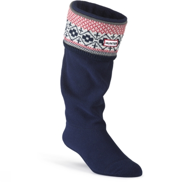 Fairisle Pattern Cuff Welly Sock