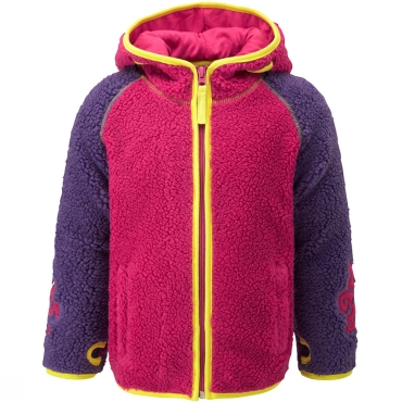 KoziBear Pouch Zip-Up Hooded Fleece