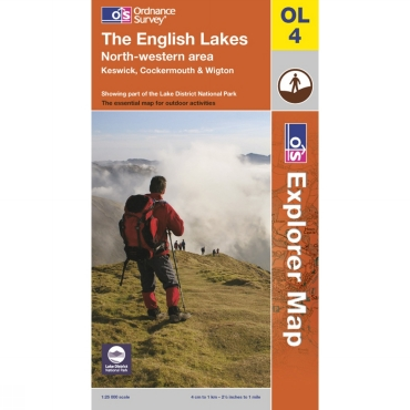 Explorer Map OL4 The English Lakes - North Western Area