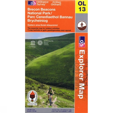 Explorer Map OL13 Brecon Beacons - Eastern Area