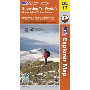 Explorer Map OL17 Snowdon - Conwy Valley