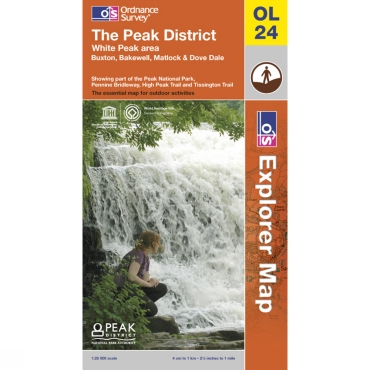 Explorer Map OL24 The Peak District - White Peak Area
