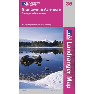 Landranger Map 36 Grantown and Aviemore
