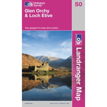 Landranger Map 50 Glen Orchy and Loch Etive