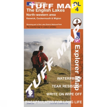 TUFF Explorer Map OL4 The English Lakes - North Western Area