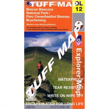 TUFF Explorer Map OL12 Brecon Beacons - Western & Central Areas