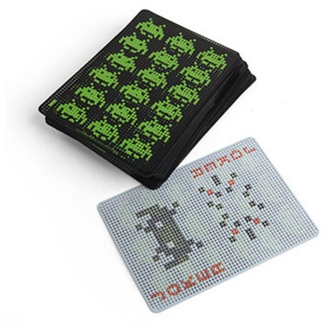 Space Invaders Waterproof Playing Cards