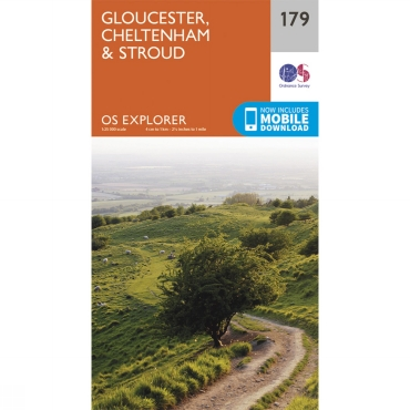 Explorer Map 179 Gloucester, Cheltenham and Stroud