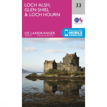 Landranger Map 33 Loch Alsh, Glen Shiel and Loch Hourn