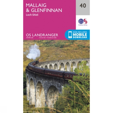 Landranger Map 40 Mallaig and Glenfinnan