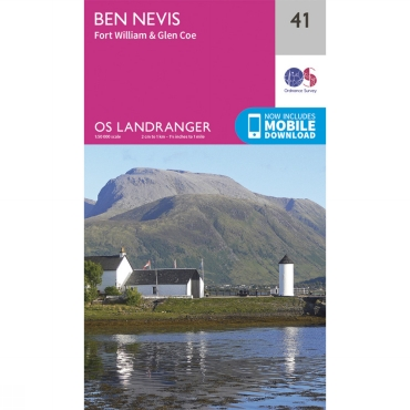 Landranger Map 41 Ben Nevis, Fort William and Glen Coe