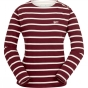 Product image of Brakeburn Womens Bella Long Sleeve Crew Beet Red/Oatmeal