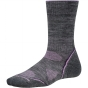 Product image of SmartWool Womens PhD Outdoor Light Crew Sock Medium Grey/Desert Purple