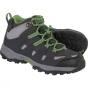 Product image of Regatta Kids Garsdale Mid Boot Seal Grey/Extreme Green
