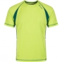 Regatta Mens Volito II T-Shirt Lime Green / Hunter Green