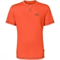 Jack Wolfskin Mens Crosstrail Tee Mango Orange