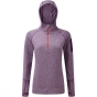 Product image of Ronhill Womens Aspiration Victory Hoodie Elderberry Marl/Hot Coral