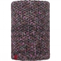 Product image of Buff Knitted and Polar Fleece Neckwarmer Patterned Margo Plum / Grey Vigore