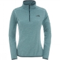 Product image of The North Face Womens 100 Glacier 1/4 Zip Fleece Ice Green Stripe