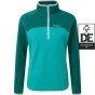 Product image of Craghoppers Womens Womens Ionic II Half Zip Bright Turquoise/Caspian Green