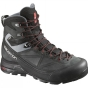Salomon Mens X Alp MTN GTX Boot Black/Asphalt/Flea