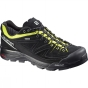 Salomon Mens X Alp LTR GTX Shoe Black / Gecko Green