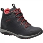 Columbia Womens Fire Venture Mid Waterproof Leather Boot Black / Burnt Henna