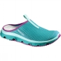 Salomon Womens RX Slider 3 Shoe Teal Blue F / Mystic Purple