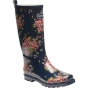 Product image of Regatta Womens Fairweather Welly Navy Blazer / Floral