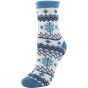Product image of Yaktrax Womens Cabin Sock Cosy Flocon Bleu