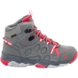 Product image of Jack Wolfskin Kids MTN Attack 2 CL Texapore Mid Boot Tarmac Grey/Hibiscus Red