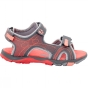 Product image of Jack Wolfskin Girls Acora Sandal Tarmac Grey/Hot Coral