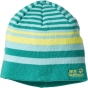 Product image of Jack Wolfskin Kids Cross Knit Cap Spearmint/Dark Lemon