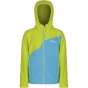 Product image of Regatta Kids Mazer Fleece Jacket Age 14+ Atoll Blue/Lime Zest