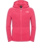 Product image of The North Face Girls Glacier Full Zip Hoodie Cabaret Pink Heather