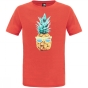 The North Face Boys Reaxion Short Sleeve Tee Fiery Red