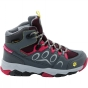 Jack Wolfskin Kids MTN Attack 2 Texapore Mid Boot Tarmac/Azalea Red