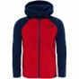 Product image of The North Face Boys Glacier Full Zip Hoodie High Risk Red/Cosmic Blue