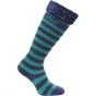 Product image of Regatta Kids Fur Collar Welly Sock 0.11 Gala Green/Navy