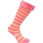 Product image of Regatta Kids Fur Collar Welly Sock 0.11 Tulip Pink/Lemon Drop