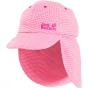 Jack Wolfskin Kids Desert Sun Hat Hot Pink Checks 9963