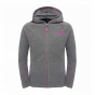 Product image of The North Face Girls Glacier Full Zip Hoodie Medium Grey Heather