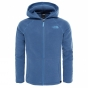 Product image of The North Face Girls Glacier Full Zip Hoodie Coastal Fjord Blue Heather