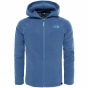 Product image of The North Face Girls Glacier Full Zip Hoodie Age 14+ Coastal Fjord Blue Heather