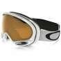 Product image of Oakley A Frame 2.0 Goggle Polished White w/Persimmon